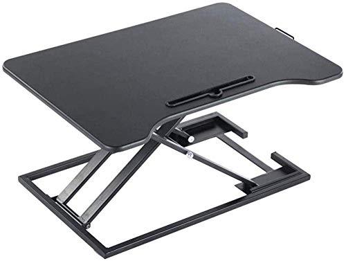 HIGHKAS Stehpult Höhenverstellbare Office Workstation-Plattform für Computerbildschirm Tastatur Laptop Ergonomischer Desktop-Tisch