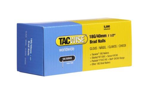 Tacwise 0400 Stiftnägel 18G/40mm Verzinkt (5.000 Stück pro Verpackung)