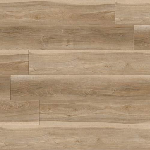 M S International AMZ-LVT-0128 Rutledge7 in. x 48 in. Luxury Vinyl Planks LVT Tile Click Floating Floor Waterproof Rigid Core Wood Grain Finish Rutledge, CASE, Beaufort Blonde Beige, 22 Square Feet