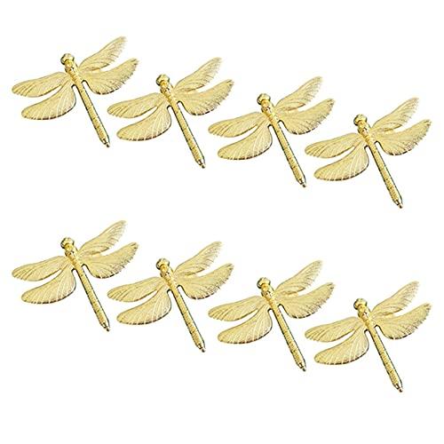 Dragonfly tovagliolo Anello d'oro Fai da Te Display per Banchetti da Sposa dell'hotel Display del Metallo Decorazione del Nastro del tovagliolo del Metallo (Color : Gold)
