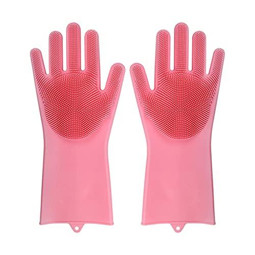 Vaatwasserij Schoonmaakhandschoenen Siliconen Rubber Spons Handschoenen Huishoudelijke scrubber Keuken…
