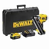 DEWALT - Cloueur de Charpente XR 18V 5 Ah - DCN692P2-QW - Cloueur sans Fil avec Coffret, 2 Batteries et Chargeur - Sans Gaz - Tir Continu ou Séquentiel - Magasin 30-34° de 55 Clous Ø2,8-3,3 mm