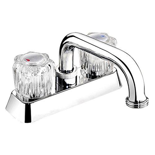 Plumb Pak EBA40WCP Dual Handle Centerset Laundry or Utility Sink Fauce, Polished Chrome