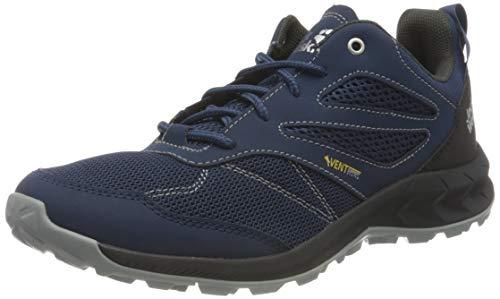 Jack Wolfskin Herren Woodland Vent Low Walking-Schuh, Dark Blue/Phantom 41 EU