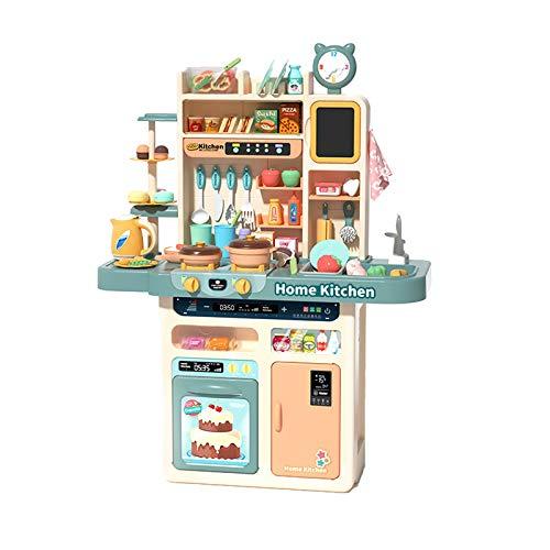 LYY Spaß Interaktiv Mädchen Kind Spielhaus Küche Spielzeug Simulation Küchenutensilien Koch- und Kochset 3-6 Jahre alt 5 Baby 2 Jahre Alten Jungen (ohne Batterie) Die Beste Wahl für Kinder