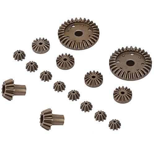 T best 16 piezas de engranaje de metal, diferencial diferencial de engranaje principal RC engranajes de mejora de piezas para 12428 12423 RC accesorio