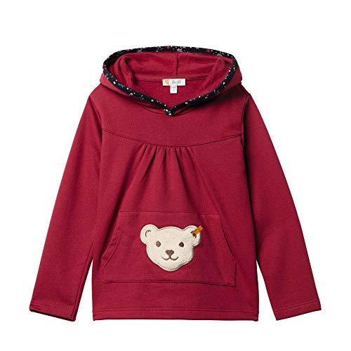 Steiff Mädchen Sweatshirt, Rot (BEET RED 4010), 110 (Herstellergröße:110)