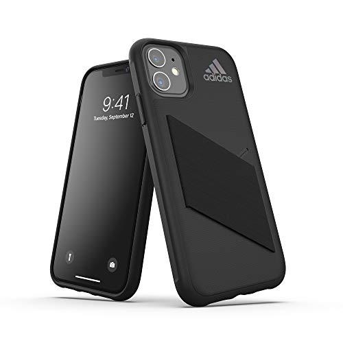 adidas Sports Kompatibel mit iPhone 11 Hülle, Schutzhülle für das Taschen Handy - Schwarz