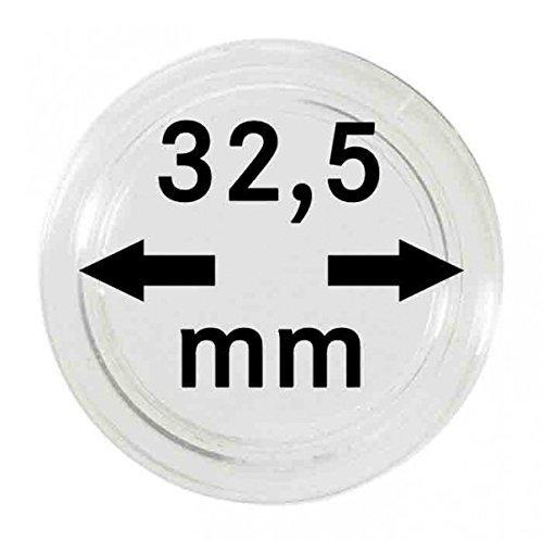Lindner 2260325P Münzkapseln 32,5 MM Originalkapsel: PP Deutschland-10er Pack