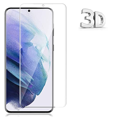 For Galaxy S21 Plus ガラスフィルム ギャラクシー S21+ 5G 6.7 インチ フィルム 3D曲面保護 硬度9H 日本製素材旭硝子製 99%高透過率 気泡防止 スクラッチ防止 飛散防止処理 防指紋 自動吸着