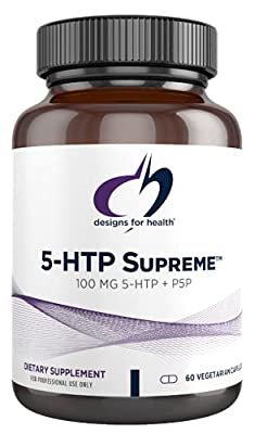 Designs for Health 5-HTP 100mg Capsules with Vitamin B6 (P-5-P) - 5-HTP Supreme (60 Capsules)