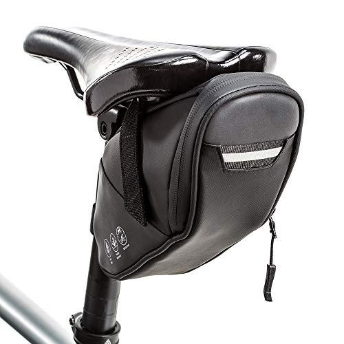 WOTOW Bolsa de sillín de Bicicleta Reflectante, Impermeable Debajo del Asiento Paquete de Bicicleta Accesorios para Herramientas Bolsa de Almacenamiento Bolsa de cuña de Ciclismo