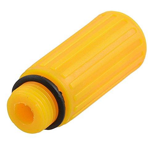 Huante Tapón de aceite de plástico de diámetro de rosca macho de 16 mm para compresor de aire, color naranja