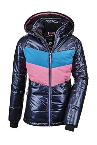 Killtec Mädchen Fiames GRLS Ski Quilted Jckt A Jacke In Daunenoptik Mit Kapuze Und Schneefang, dunkelblau, 176