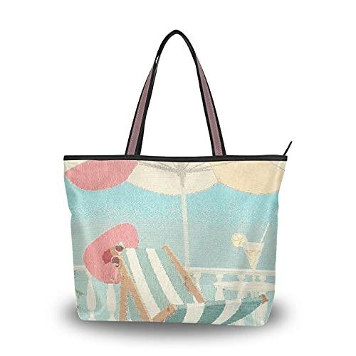 NaiiaN Geldbörse Einkaufen Strand Stuhl Handtaschen Einkaufstasche Leichter Gurt Umhängetaschen für Mutter Frauen Mädchen Damen Student