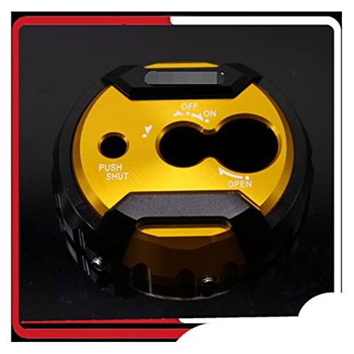 ZHANGWUNIU WUZ Store Ajuste Adecuado para Yamaha NMAX 155 N-MAX155 N-MAX 155 NMAX 125 N-MAX 150 2015-2019 Accesorios de Scooter tapón de Bloqueo de Asiento (Color : Gold)
