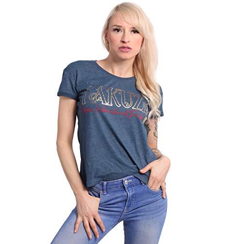Yakuza Damen Glory Box Fit T-Shirt, Poseidon Melange, M