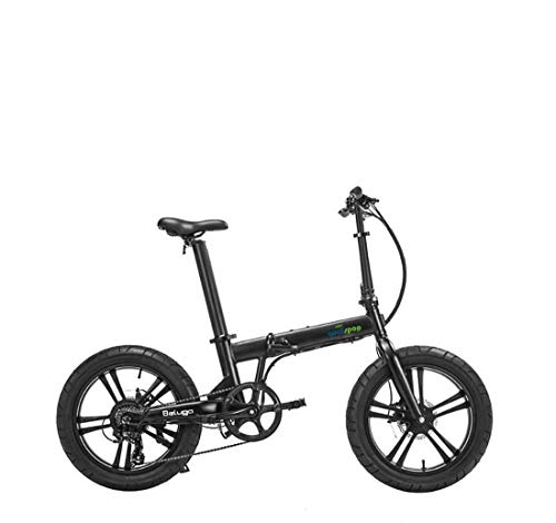 Adult Foldable Mountain Electric Bike, with LCD Display Aluminum Alloy 7 Speed Electric Bicycle, 20 Inch Magnesium Alloy Wheels,A