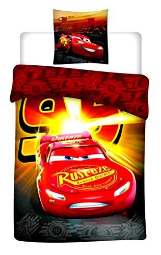 Cars Juego de Cama Individual (Funda de edredón, Microfibra, Multicolor, 200x 140cm)