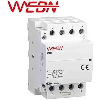 230V 50 40A, 2NO2NC 63A fonctionnement automatique AC M/énage Contacteur 220V 4NC DIN 2NC 2NO 60Hz contact 4NO OCT-63 s/érie 4P 40A