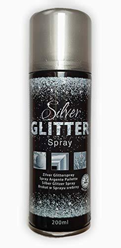 200 ml Hochwertiger Glitzerspray mit silbernem Glimmer-Effekt. Silver Glitterspray