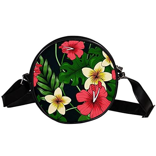 Bolso cruzado redondo pequeño bolso de las señoras de la manera de las señoras Bolsos de hombro Bolso de mensajero Bolsa de lona Accesorios de la bolsa de cintura para las mujeres