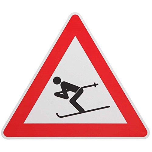 ORIGINAL VERKEHRSSCHILD 101 mit Sonder Symbol SKIABFAHRT SKIFAHRER UNFALLGEFAHR Verkehrszeichen Schild Skiabfahrtschild Skilift Alpinskipiste Hinweisschild Warnschild Skischild Skifahrerschild Schilder Gefahrenstelle d. Skifahren KFZ Ski auf Straße