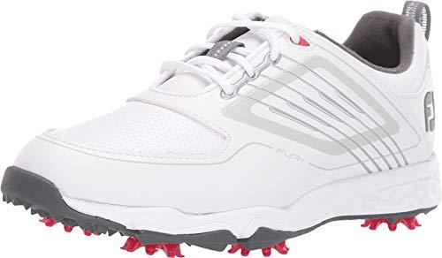 Footjoy Jungen Junior Golfschuhe, Weiß (Blanco/Plata 45027m), 35 EU