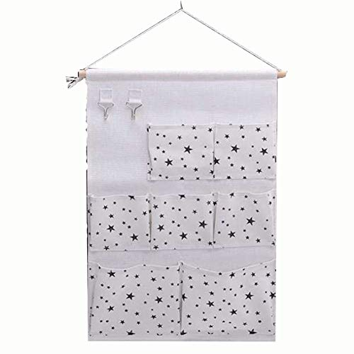 Family Needs 1pcs / lot New Stof originative Household Upright opslag Afwerking Opknoping Katoenen Storage Bag (Color : 2, Size : 34.5 * 47.5cm)