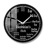 Reloj de Electricista, Trabajador eléctrico, profesión, Reloj de Pared Moderno, relámpago, Arte de Pared, decoración del hogar, Regalo para Ingenieros, manitas-30X30CM