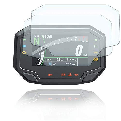 [2 Stück] Displayschutzfolie Tacho Schutzfolie geeignet für Kawasaki Z650 Z900 ZH2 2020+ 2x Ultra Clear