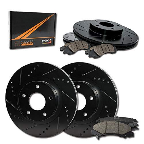 2008-2014 Dodge Avenger Max Brakes Front /& Rear Elite Brake Kit E-Coated Slotted Drilled Rotors + Ceramic Pads KT053083 Fits: 2007-2010 Chrysler Sebring 2007-2015 Jeep Compass