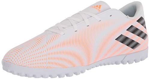 adidas mens Nemeziz .4 Turf Soccer Shoe, White/Black/Screaming Orange, 8.5 US