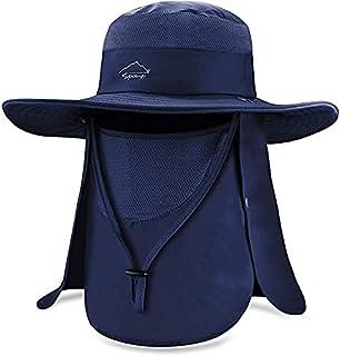 قبعات صيد السمك الواقية من الشمس، قبعات واقية من اشعة الشمس بعامل حماية من أشعة الشمس فوق البنفسجية +50 بغطاء للرقبة قابل ...