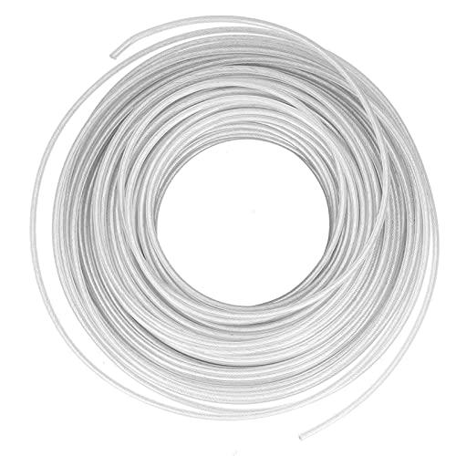 AUNMAS Trimmerfaden, Trimmerfaden, Rasentrimmerfaden Seilkabel Flexibler Stahldraht Garten-Rasenmäher-Zubehör 3.0mmx30m