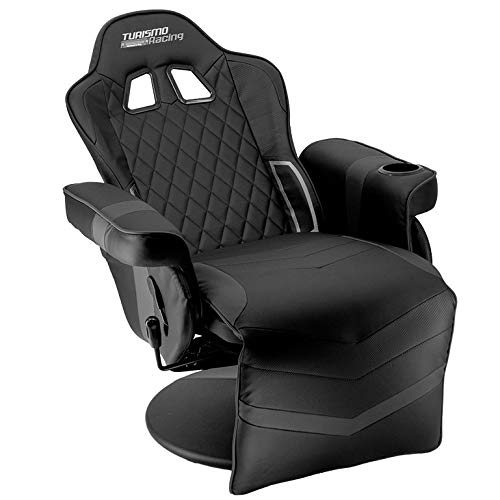 Turismo Racing Stanza Series Gaming Chair Ergonomic Gaming Bucket Lumbar Support Executive Computer … Nomic Chair (Black Recliner)