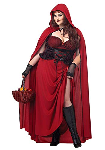 California Costumes 1719 DARK RED RIDING HOOD Adult-Sized Costume, XXXL