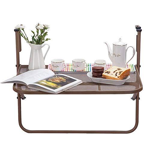 YZERTLH Balkongeländer Hängetisch Klapptisch Couchtisch Kleiner Tisch Kleine Theke Vermeiden Von Metallkratzern,B
