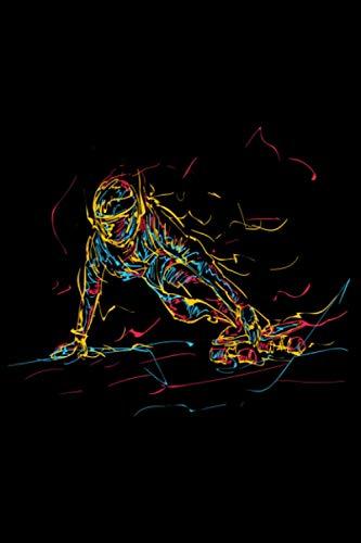 Abstrakte Kunst Ollie FS 180 Kickflip Heelflip: DIN A5 Liniert 120 Seiten / 60 Blätter Notizbuch Notizheft Notiz-Block Skateboard Skater Motive & Geschenkidee
