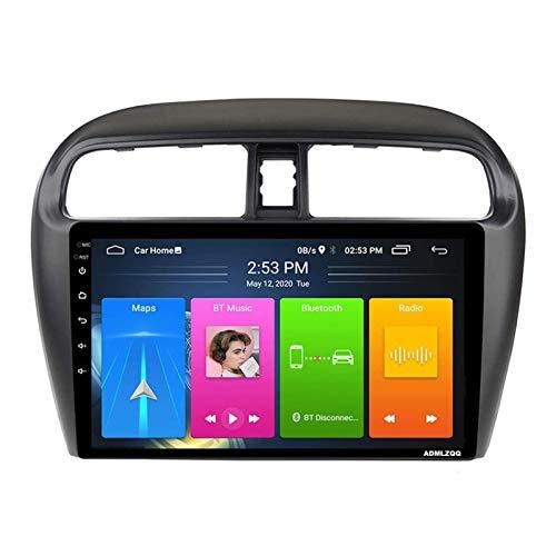 Reproductor De Radio Estéreo Para Coche Con Pantalla Táctil HD De 9 Pulgadas Para Mitsubishi Mirage Attrage 2012-2018, Navegación GPS Con Android 8.1, FM/RDS/Bluetooth/Mirrorlink/Cámara Trasera