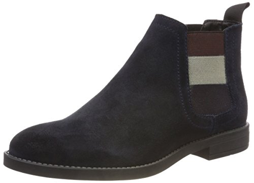 Hilfiger Denim Damen Essential Chelsea Boots, Blau (Midnight 403), 36 EU