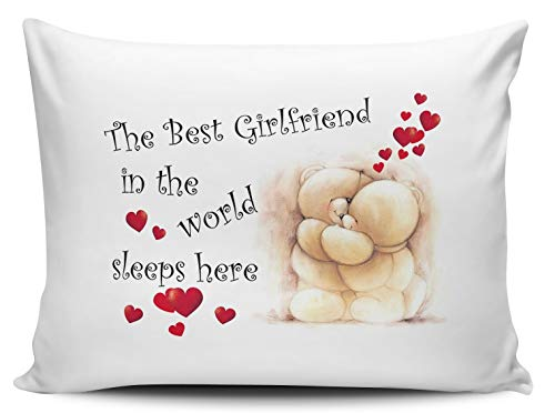 The Best Girlfriend In The World Sleeps Here Pillow...