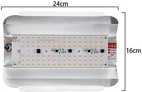 TENDERNESS Pflanzenwachstumslampe Pflanze Licht Betriebslicht 50W-100W LED Phyto-Flutlicht 6000Lm Full Spectrum High Power LED wachsen Licht hydroponischen Seeding 220V IP65 Wasserdicht,100w
