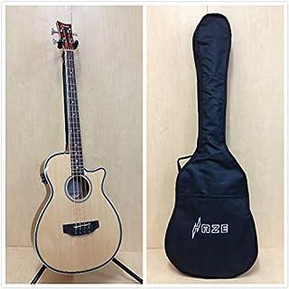 Haze 3/4 Size 4-String Electric-Acoustic Bass Guitar, Natural + Free Gig Bag FB-711BCEQ/N