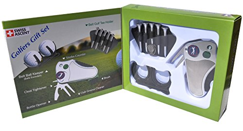 golfeur S Best Coffret cadeau de golf: Outil-Passage Comptoir, Relève-pitch Outil réparation,...