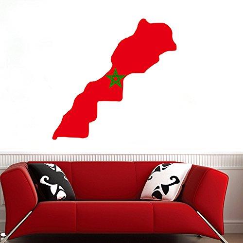 DIYthinker Marokkaanse Vlag Kaart van Marokko muur Vinyl Sticker Aangepaste Home Decoratie Muursticker Bruiloft Decoratie Pvc Wallpaper Mode Ontwerp