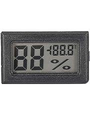 Mini Termómetro de Humedad Preciso, Higrómetro LCD Digital Termómetro de Interior Monitor de Humedad para el Hogar, la Oficina, el Invernadero(Negro)