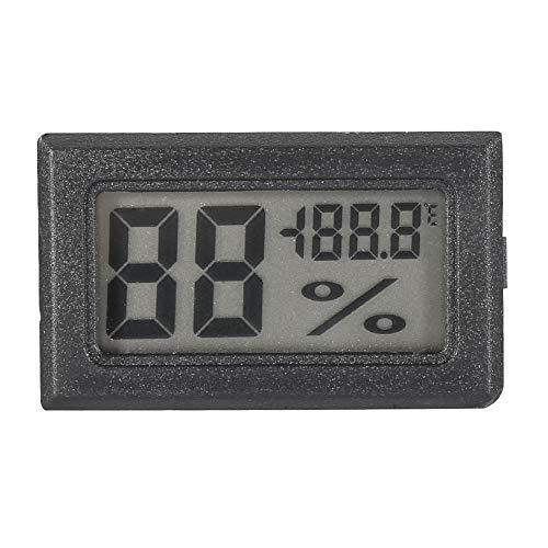 Higrómetro Digital Monitor de Humedad de Termómetro de Pantalla LCD Grande para el Dormitorio de Invernadero del Ministerio del Interior (Black)