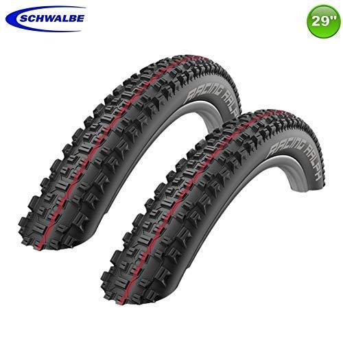 Neumáticos Schwalbe Rapid Rob 29 x 2,25 sbc K-Guard blancos a rayas de alambre