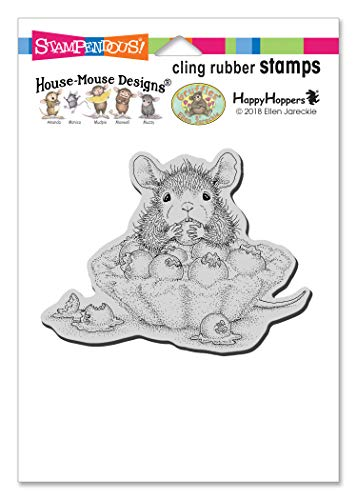 Stampendous House Mouse Cling Stamp-Blueberry Tart, Grey